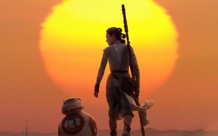 Rey & BB 8 Star Wars The Force Awakens