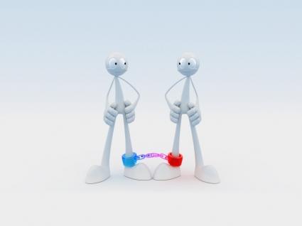Robot Friends Wallpaper Abstract 3D