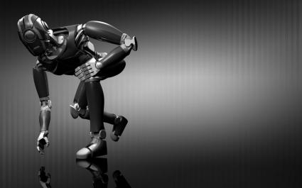 Robot Wallpaper Abstract 3D