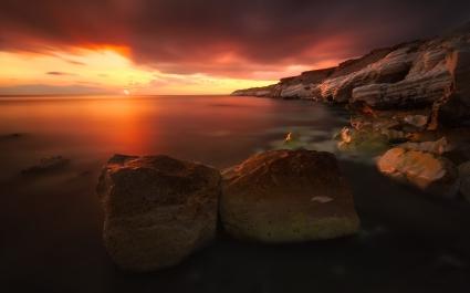 Rocky Coastline Sunset