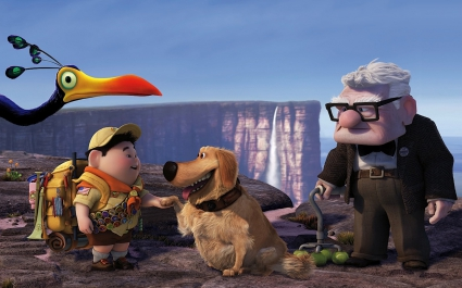 Russell Dug Carl Fredricksen in Pixar's UP