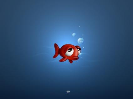 Sad Fish Wallpaper 3D Characters 3D