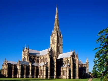 Salisbury Cathedral Wallpaper England World