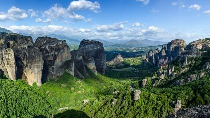 Sandstone rock formations Greece
