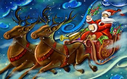 Santa Clause Creative Art Work
