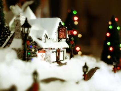 Santa Workshop Wallpaper Christmas Holidays