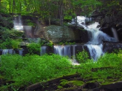 Sawkill Falls Wallpaper Waterfalls Nature