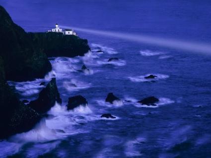 Sea Lighthouse Wallpaper Landscape Nature