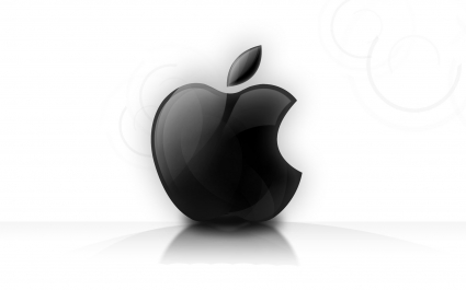 Shining Glassy Apple logo