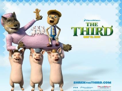 Shrek The Third caracters Wallpaper Shrek 3 Movies