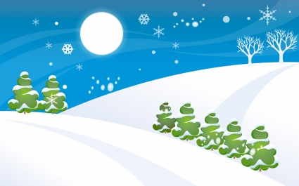Simple Christmas Snow World