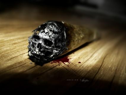 Smoking Kills Wallpaper Abstract 3D