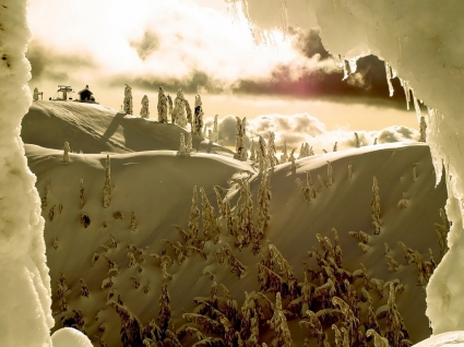 Snow Window Wallpaper Winter Nature