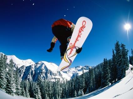 Snowboarding jump Wallpaper Snowboarding Sports