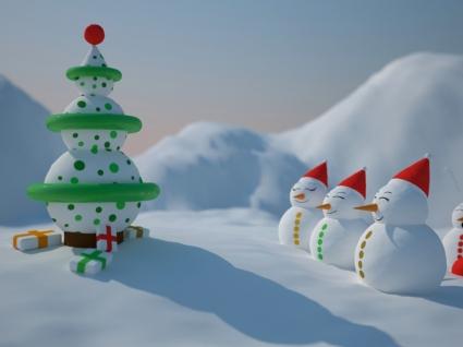 Snowman Christmas Wallpaper Christmas Holidays