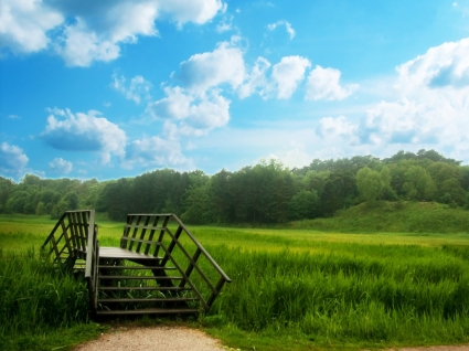 Some Place Wallpaper Photo Manipulated Nature