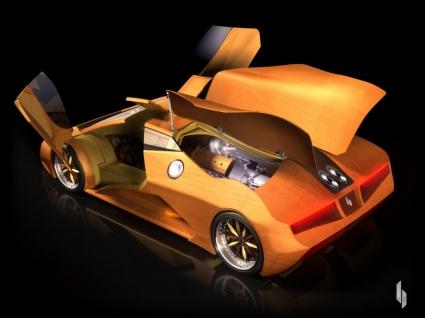 Splinter Wooden Supercar Wallpaper Other Cars
