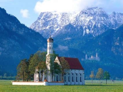 St Coloman Church Wallpaper Germany World