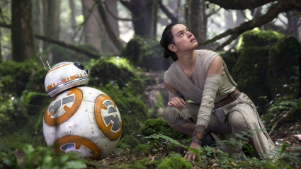 Star Wars The Force Awakens R2 D2 Rey