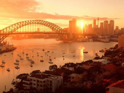 Sun Kissed Sydney Wallpaper Australia World