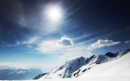 Sunny Snowy Mountains
