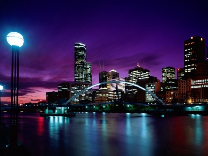 Sunset Over Melbourne Wallpaper Australia World