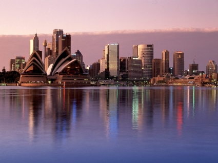 Sydney Reflections Wallpaper Australia World