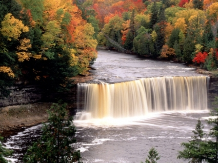 Tahquamenon Falls Wallpaper Waterfalls Nature