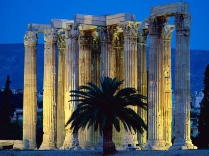 Temple of Olympian Zeus Wallpaper Greece World