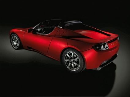 Tesla Roadster Rear and Side Wallpaper Tesla Cars