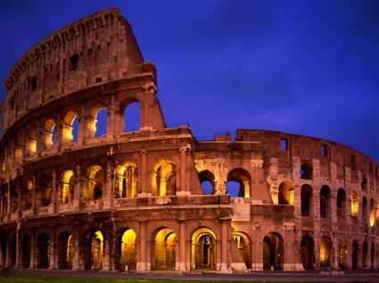 The Colosseum Rome Wallpaper Italy World