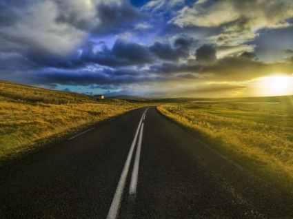 The Open Road Wallpaper High Dynamic Range Nature
