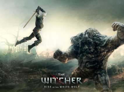 The Witcher Rise of the White Wolf Wallpaper The Witcher Games