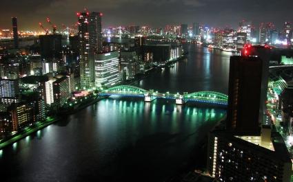 Tokyo Panorama Dual Monitor