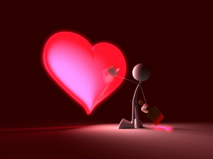 Touch My Heart Wallpaper 3D Characters 3D