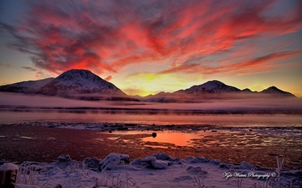 Twilight Cook Inlet Alaska