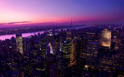 Twilight in New York City