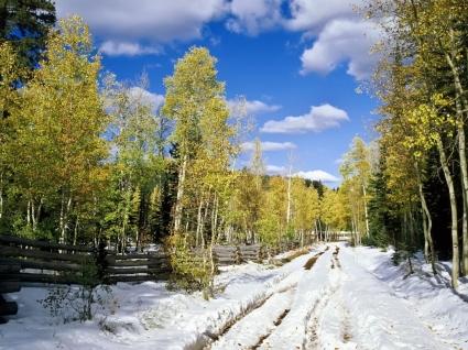 Utah in Early Winter Wallpaper Winter Nature