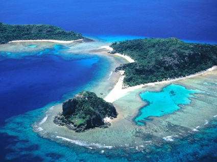 Vanua Levu and Navadra Islands Wallpaper Fiji Islands World