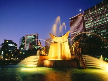 Victoria Square Fountain Wallpaper Australia World