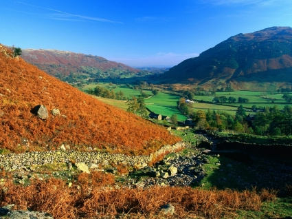 View Over Great Langdale Wallpaper England World