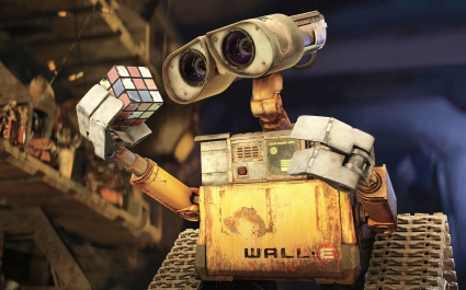 WALL E & Rubiks Cube