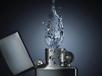 Water lighter Wallpaper Abstract 3D