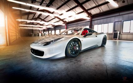 White Ferrari 430 Scuderia