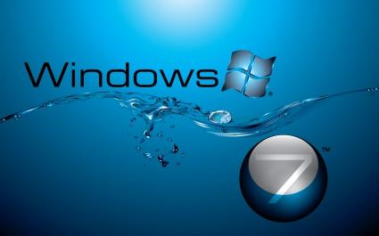 Windows 7 in Water Flow