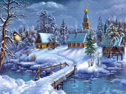 Winter Dreamland Wallpaper Cartoons Anime Animated