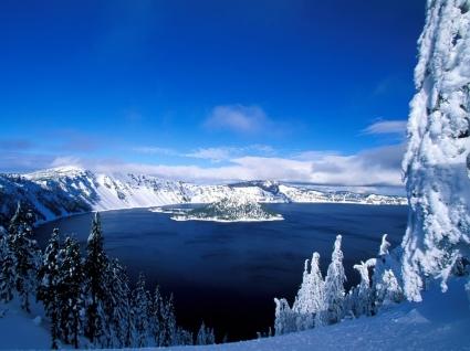 Winter Lake Wallpaper Winter Nature