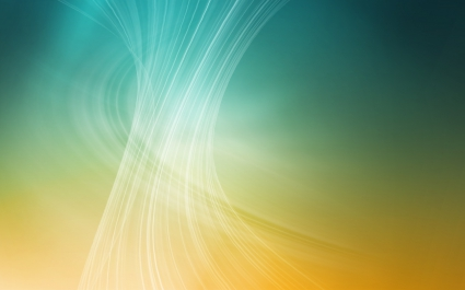 Yellow Wave Abstract