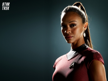 Zoe Saldana as Uhura in Star Trek