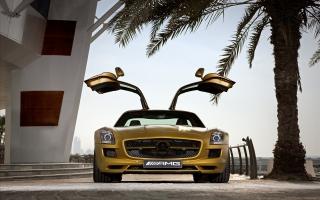 2010 Mercedes Benz SLS AMG Desert Gold 2